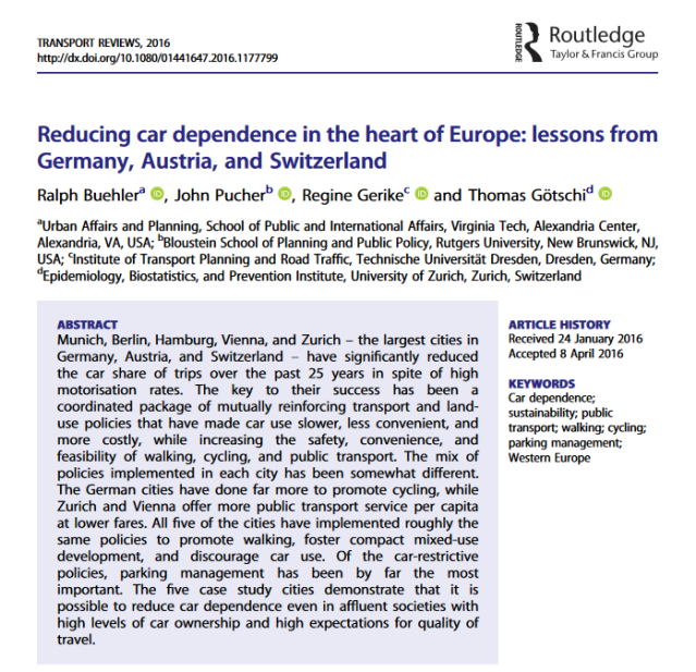 Reducing Car Dependence