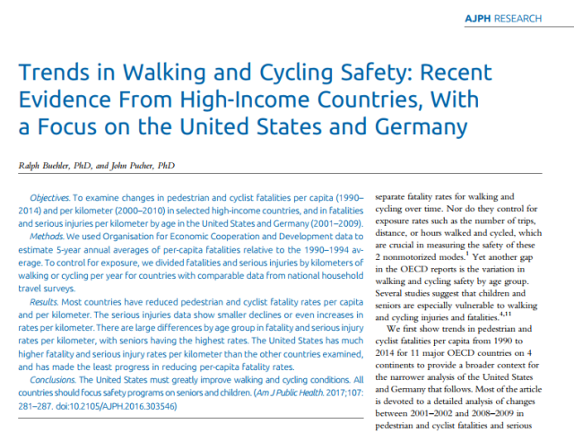 Walk and Bike Safety